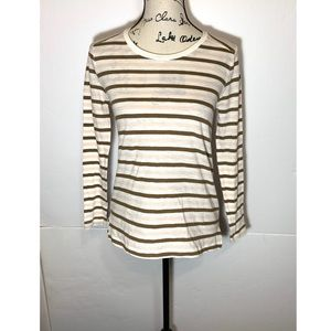 Madewell Sheer Striped Long Sleeve T-Shirt